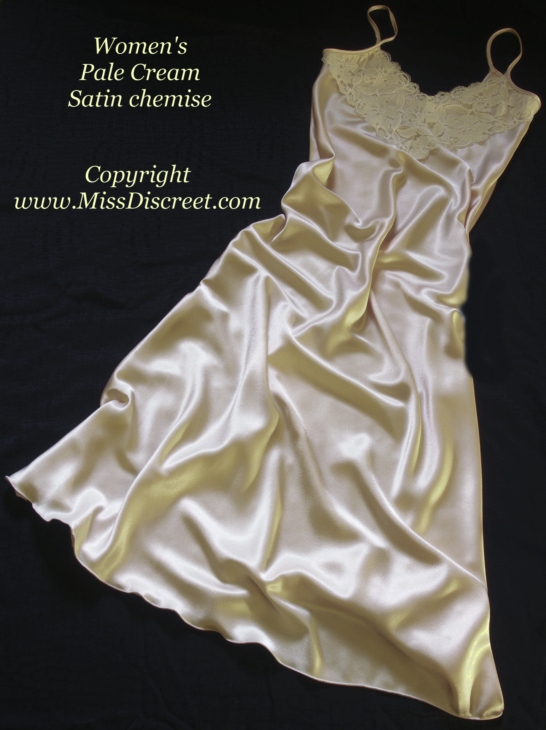 Products - Peignoir sets, satin nightgowns, strapless bustier