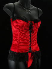 Satin and Lace Basques Waspies and Corsets